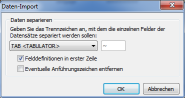 Datenseparation für den CSV-Import